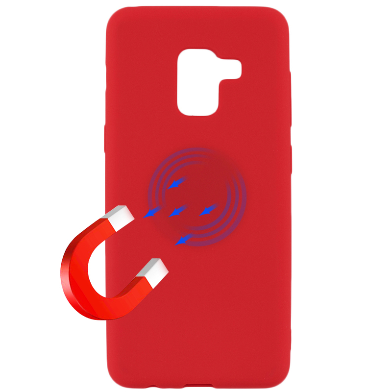 Husa Samsung Galaxy A8 2018 A530 Soft Magnet TPU - Rosu