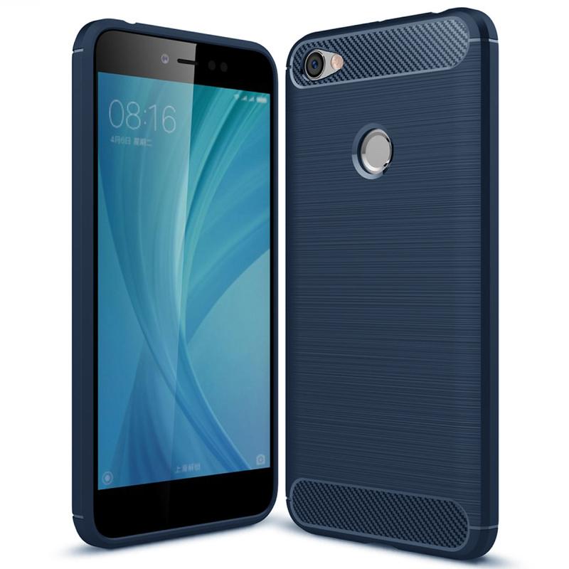 Husa Xiaomi Redmi Note 5A TPU Carbon Albastru