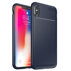 Husa iPhone XS Max Mobster Carbon Skin Albastru