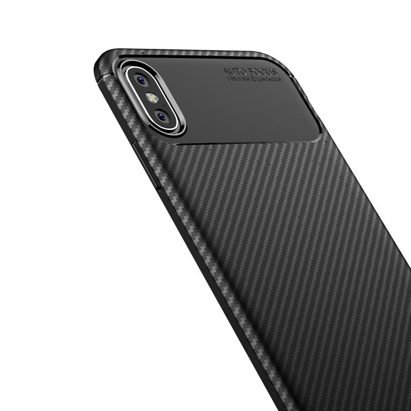 Husa iPhone XS Max Mobster Carbon Skin Negru