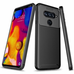 Husa LG V40 ThinQ Mobster Carbon Skin Negru