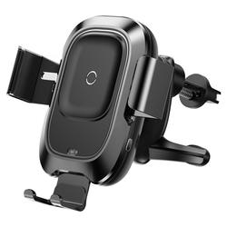 Suport Auto Grila De Ventilatie Baseus Smart Cu Incarcare Wireless - WXZN-01 - Negru