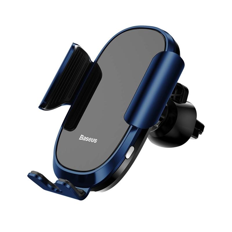 Suport Grila Ventilatie Baseus Electric Gravity Pentru Telefon - Albastru