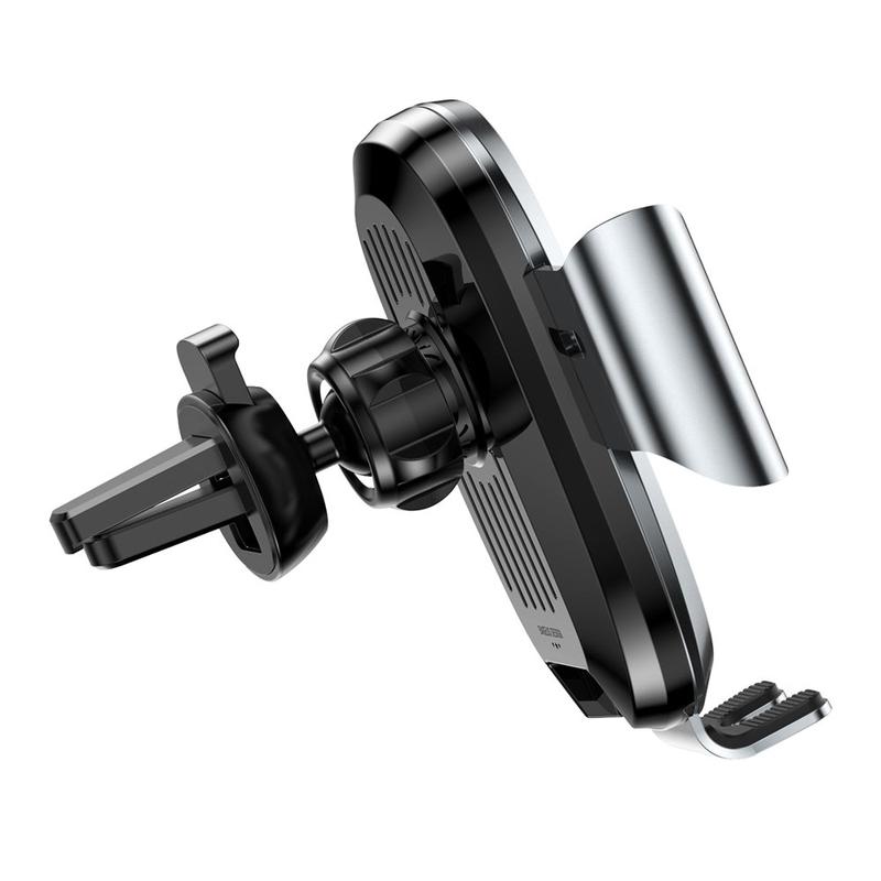 Suport Grila Ventilatie Baseus Electric Gravity Pentru Telefon - Argintiu