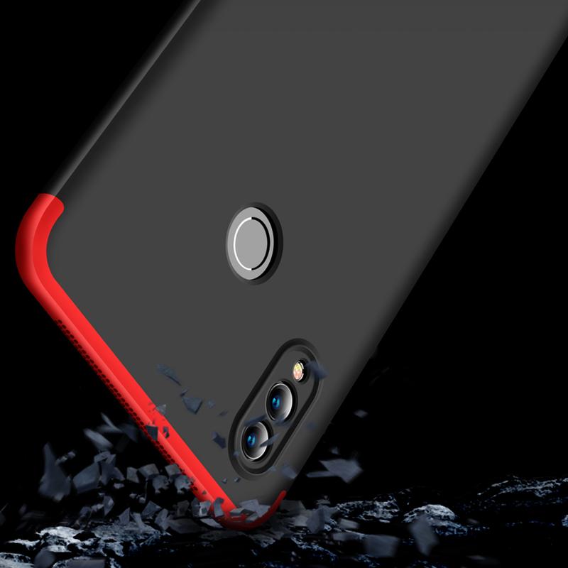 Husa Huawei Honor Note 10 GKK 360 Full Cover Negru-Rosu