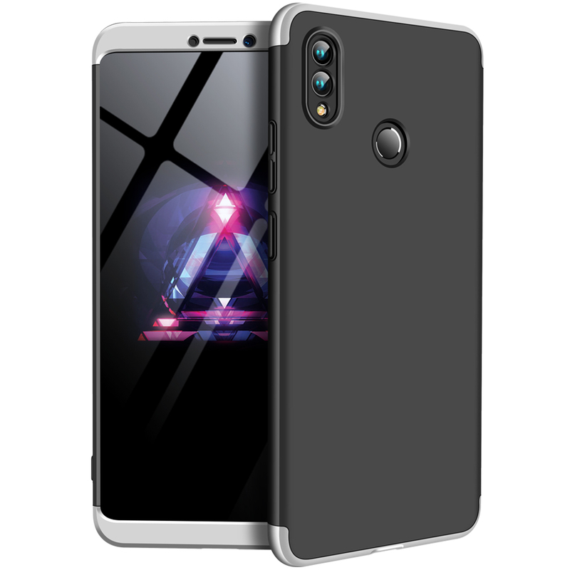 Husa Huawei Honor Note 10 GKK 360 Full Cover Negru-Argintiu