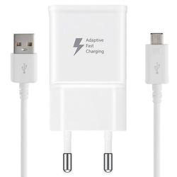 Incarcator Priza Original Samsung EP-TA20EWE + Cablu de Date Micro-USB - Alb