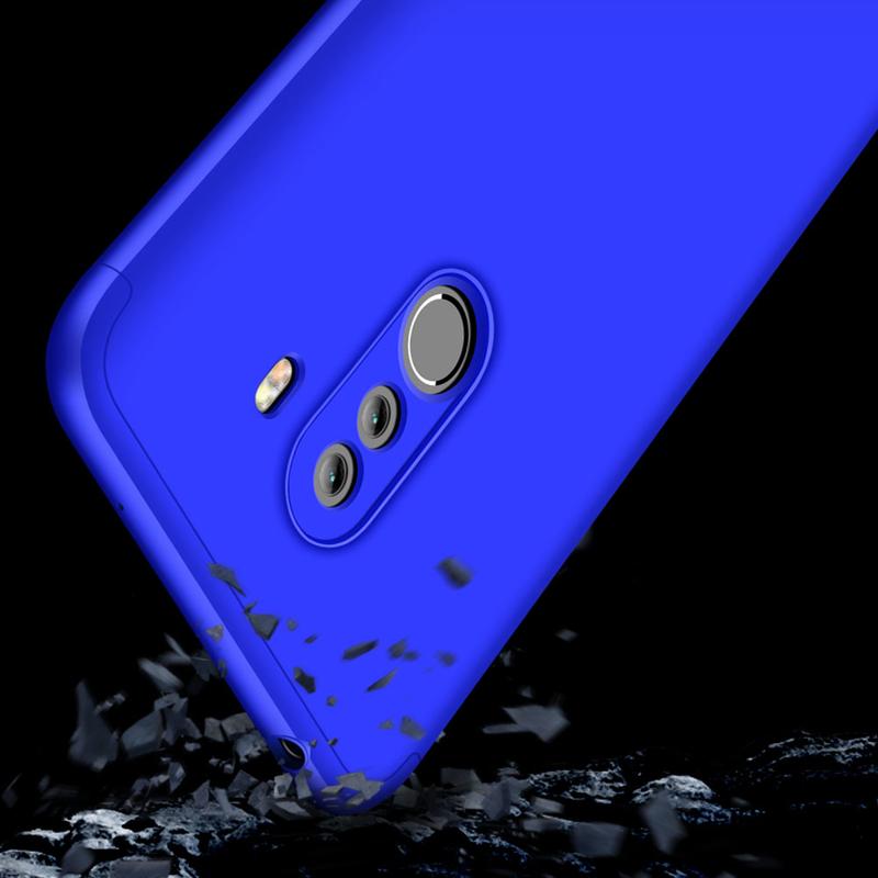 Husa Xiaomi Pocophone F1 GKK 360 Full Cover Albastru