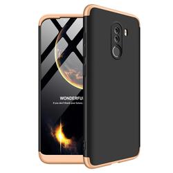 Husa Xiaomi Pocophone F1 GKK 360 Full Cover Negru-Auriu