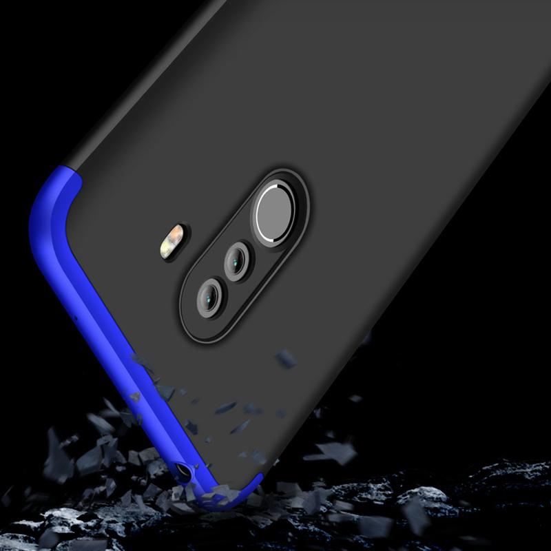 Husa Xiaomi Pocophone F1 GKK 360 Full Cover Negru-Albastru