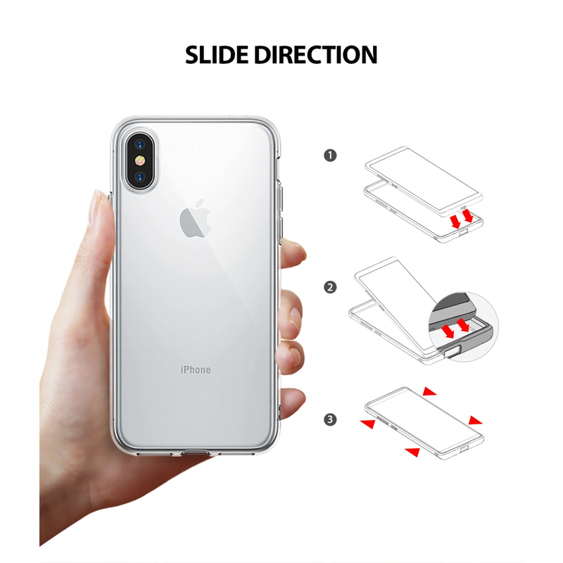 Husa iPhone XS Ringke Air - Black
