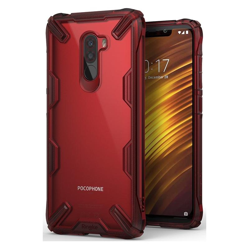 Husa Xiaomi Pocophone F1 Ringke Fusion X - Ruby Red
