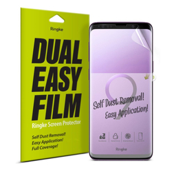 Folie Protectie FullCover Samsung Galaxy S9 Ringke Dual Easy(2 Pack) - Clear