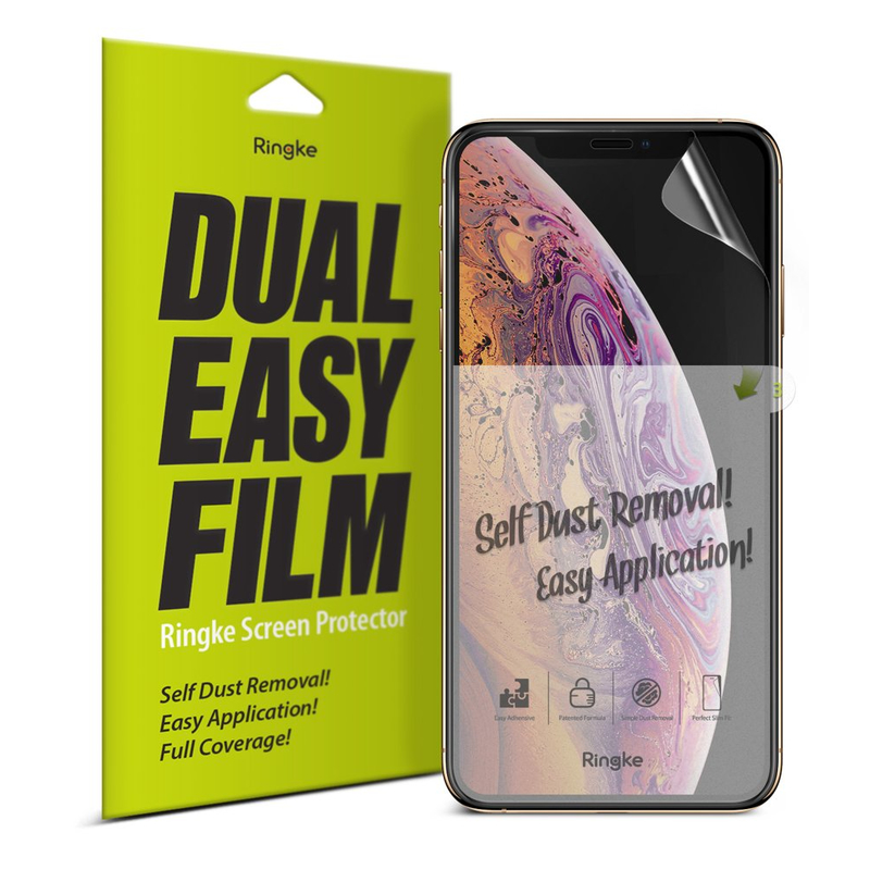 Folie Protectie FullCover iPhone XS Max Ringke Dual Easy(2 Pack) - Clear