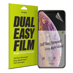 Folie Protectie FullCover iPhone XS Ringke Dual Easy(2 Pack) - Clear