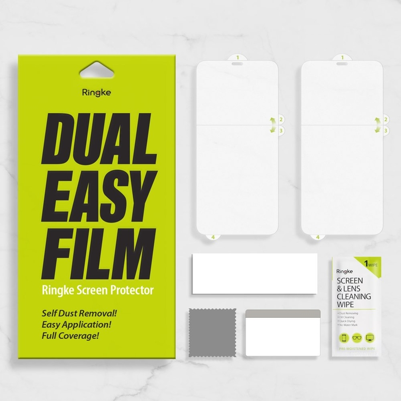 Folie Protectie FullCover iPhone 7 Ringke Dual Easy(2 Pack) - Clear
