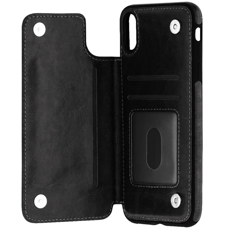 Bumper iPhone XS Max Mobster Wallet - Negru