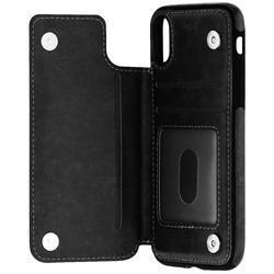 Bumper iPhone XS Mobster Wallet - Negru
