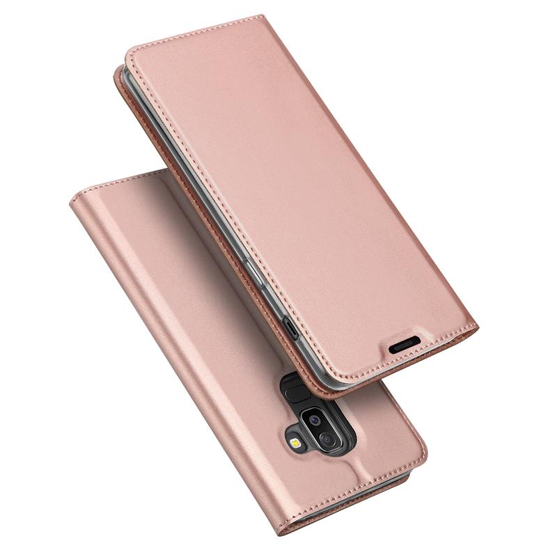 Husa Samsung Galaxy A6 Plus 2018 Dux Ducis Flip Stand Book - Roz
