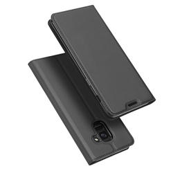 Husa Samsung Galaxy J6 2018 Dux Ducis Flip Stand Book - Gri