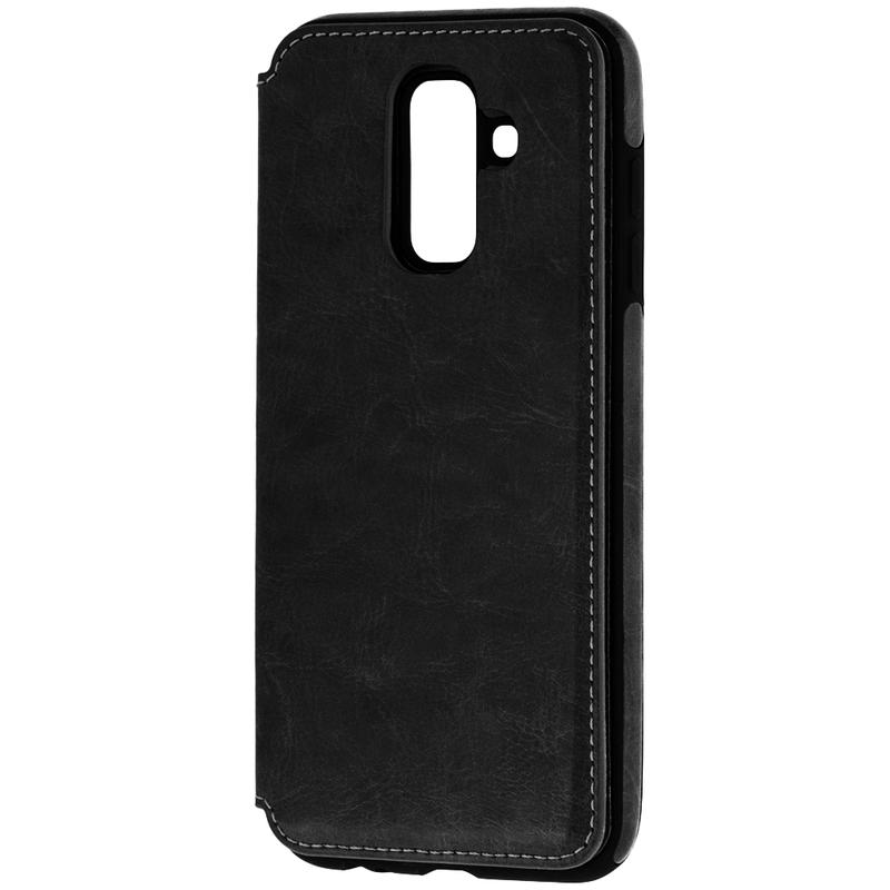Bumper Samsung Galaxy A6 Plus 2018 Mobster Wallet - Negru