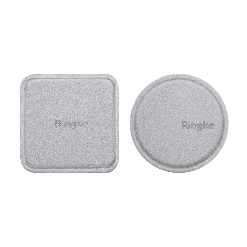 [Pachet 2x] Placa Metalica Autoadeziva Pentru Suporturi Magnetice Ringke - Argintiu