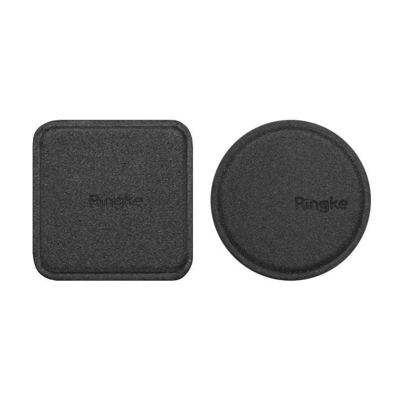 [Pachet 2x] Placa Metalica Autoadeziva Pentru Suporturi Magnetice Ringke - Negru
