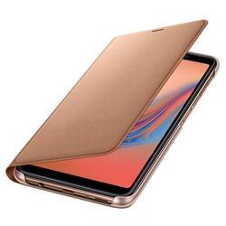 Husa Originala Samsung Galaxy A7 2018 Flip Wallet Gold