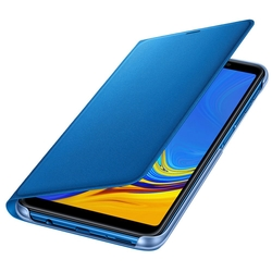 Husa Originala Samsung Galaxy A7 2018 Flip Wallet Blue