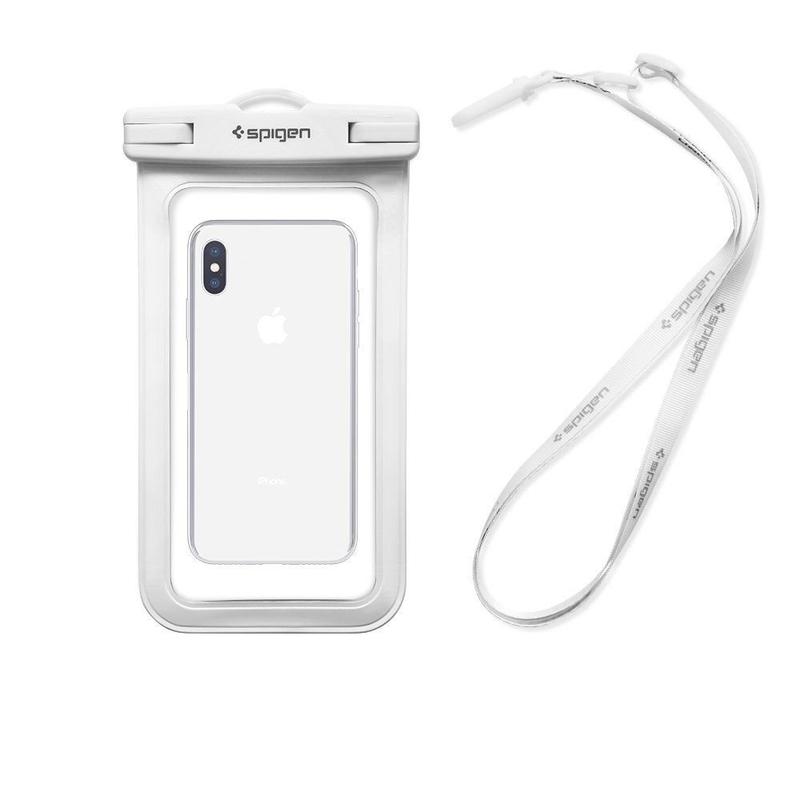 Husa Impermeabila Spigen Velo A600 pentru Telefoane 6.0 inch - Alb