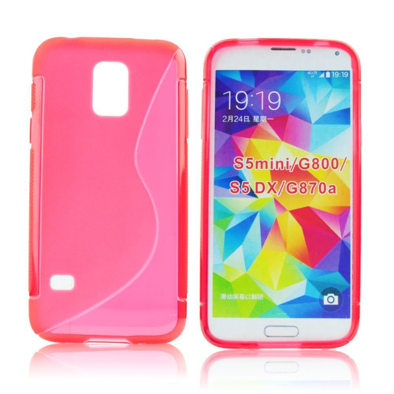 Husa Samsung Galaxy S5 Mini G800 Silicon Gel TPU Rosu
