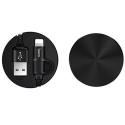 Cablu de date Lightning/Micro-USB Hoco Resilient U23 1.2M 2.0A - Negru