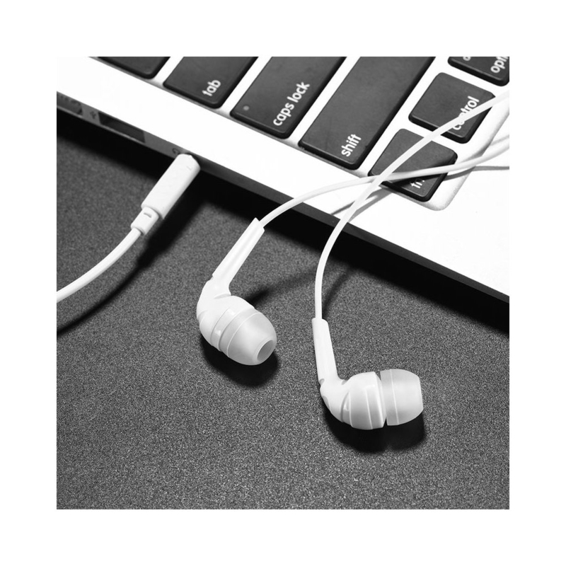 Casti In-Ear Cu Microfon Hoco M40 - Alb
