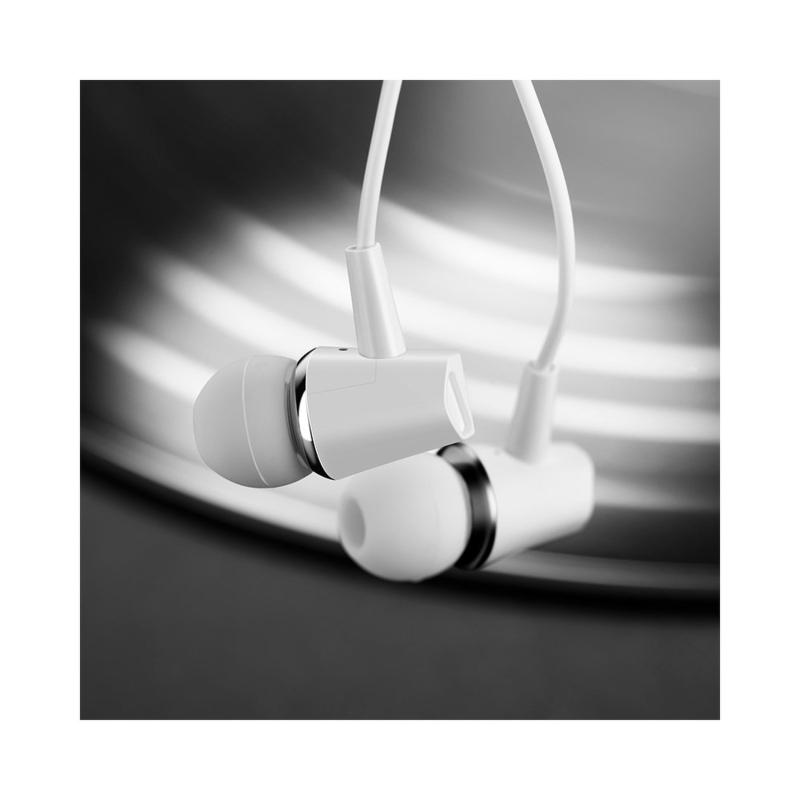 Casti In-Ear Cu Microfon Hoco M34 Drumbeat - Alb