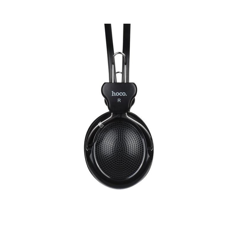 Casti On-Ear Cu Microfon Pe Fir Hoco W5 - Negru