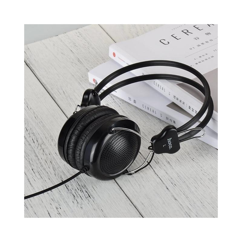 Casti On-Ear Cu Microfon Pe Fir Hoco W5 - Alb
