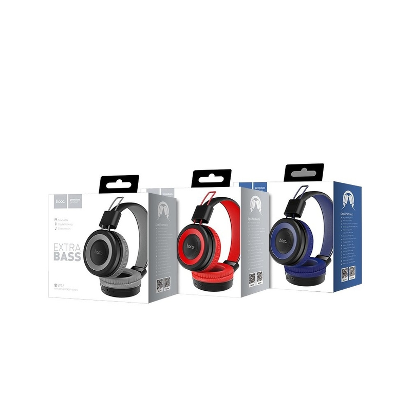 Casti On-Ear Hoco W16 Cu Bluetooth Si Microfon - Albastru