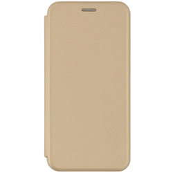 Husa Samsung Galaxy J4 Plus Flip Magnet Book Type - Gold