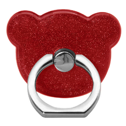 Suport Telefon/Tableta Glitter Bear Ring - Red