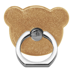 Suport Telefon/Tableta Glitter Bear Ring - Gold