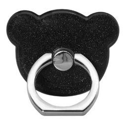 Suport Telefon/Tableta Glitter Bear Ring - Black
