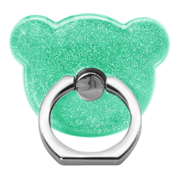 Suport Telefon/Tableta Glitter Bear Ring - Green