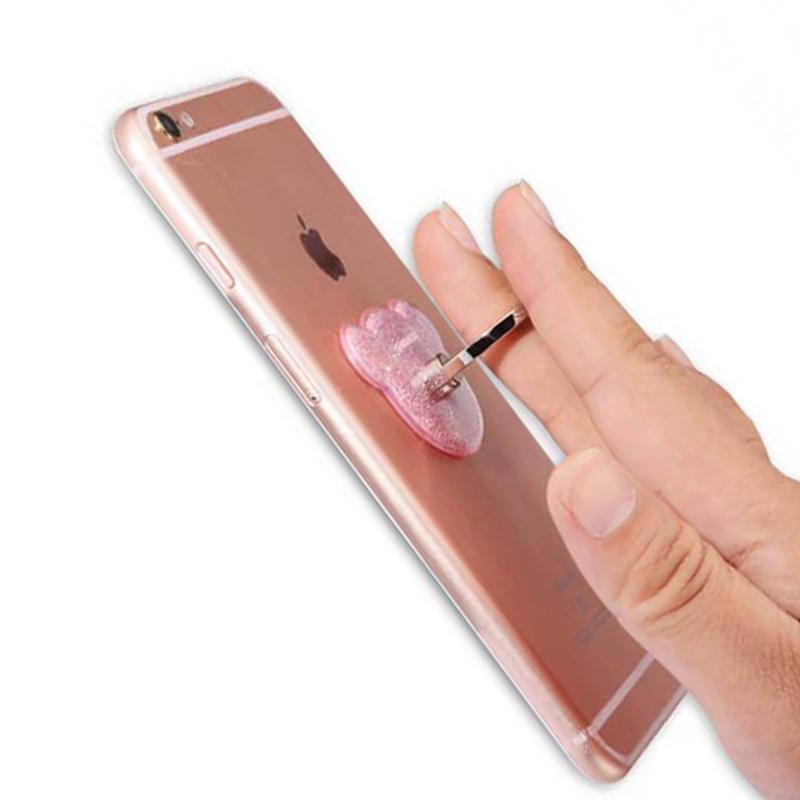 Suport Telefon/Tableta Glitter Bear Ring - Pink