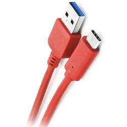 Cablu de date cu lungimea de 2M USB 3.0 -USB-C - Rosu