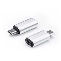 Convertor Universal Adaptor Type-C To Micro-USB Pentru Telefoane Si Tablete - Argintiu