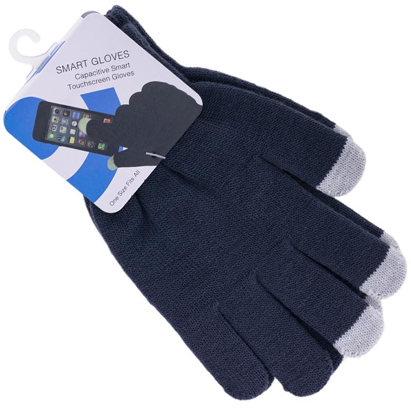 Manusi touchscreen barbati P.T, acrilic, gri