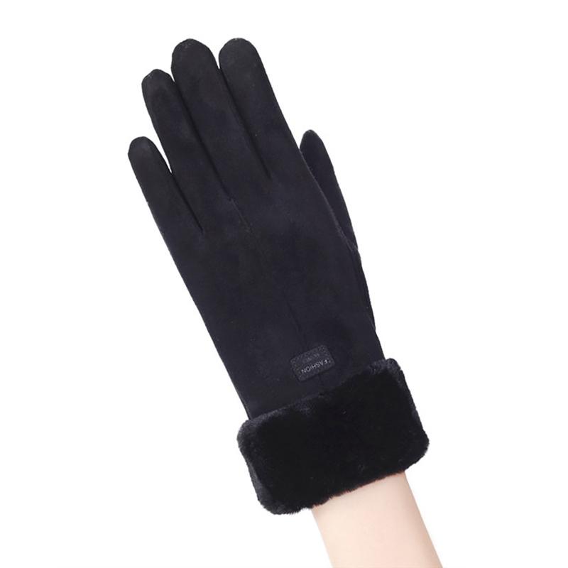 Manusi Touchscreen Knit Magic Femei - Negru