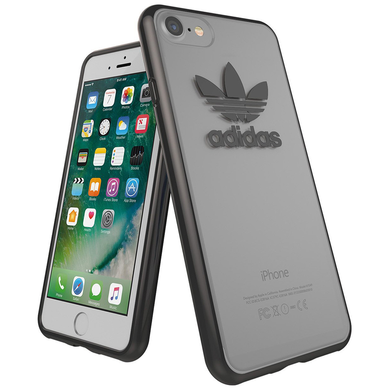 Bumper iPhone 7 Adidas Trefoil Clear - Gunmetal