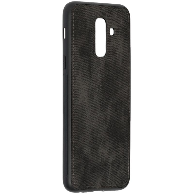 Husa Samsung Galaxy A6 Plus 2018 Denim Cover - Negru