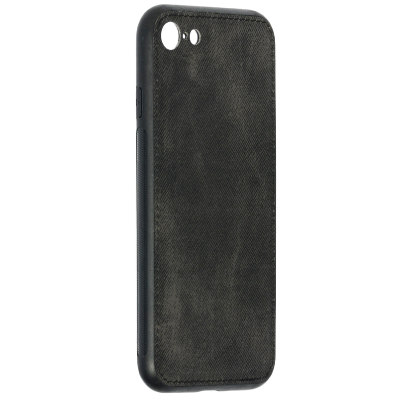 Husa iPhone 7 Denim Cover - Negru